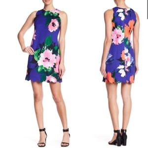 NWT Vince Camuto Sleeveless Floral Scalloped Dress